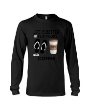 Flip Flops Coffee Long Sleeve Tee thumbnail