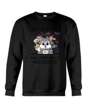 Coffee And Wolves Crewneck Sweatshirt thumbnail