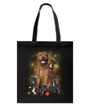 Phoebe - Bull Terrier Mom And Babies - 104 Tote Bag thumbnail