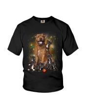Phoebe - Bull Terrier Mom And Babies - 104 Youth T-Shirt thumbnail