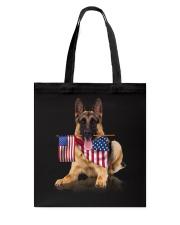 Flag German Shepherd Tote Bag thumbnail