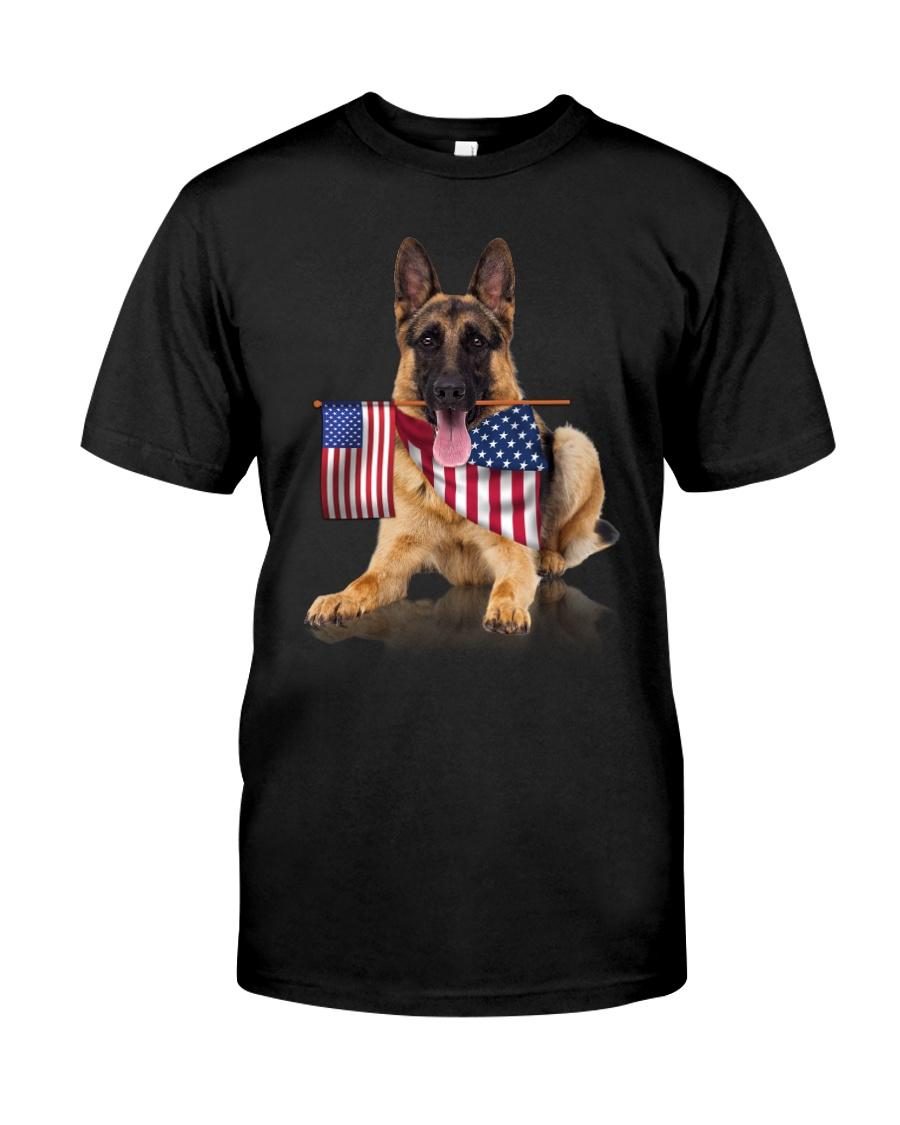 Flag German Shepherd Classic T-Shirt