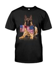 Flag German Shepherd Classic T-Shirt front