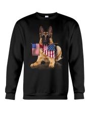 Flag German Shepherd Crewneck Sweatshirt thumbnail
