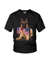 Flag German Shepherd Youth T-Shirt thumbnail