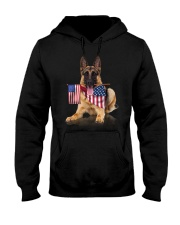 Flag German Shepherd Hooded Sweatshirt thumbnail