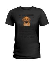 Human Dad Rhodesian Ridgeback Ladies T-Shirt tile