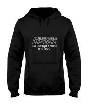 Unicorns All I Care Hooded Sweatshirt tile