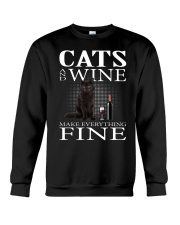 Cat And Wine Crewneck Sweatshirt thumbnail