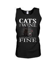 Cat And Wine Unisex Tank thumbnail