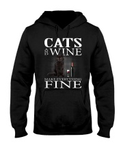 Cat And Wine Hooded Sweatshirt thumbnail