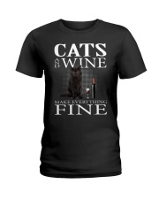 Cat And Wine Ladies T-Shirt thumbnail