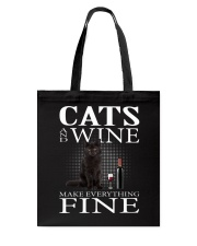 Cat And Wine Tote Bag thumbnail