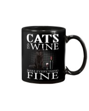 Cat And Wine Mug thumbnail