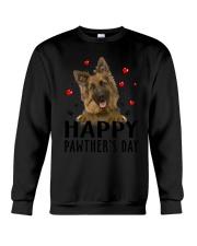 German Shepherd Happy Pawther Day Crewneck Sweatshirt thumbnail