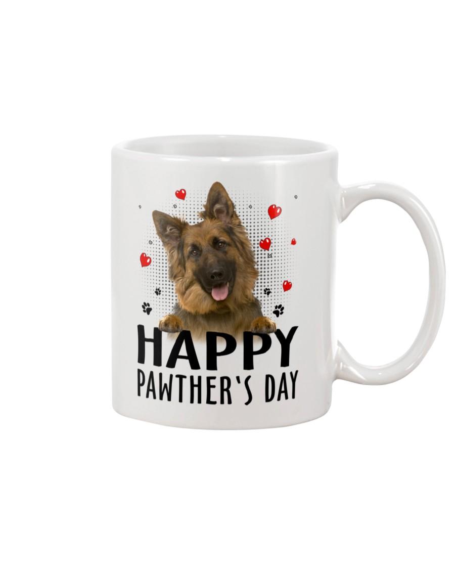 German Shepherd Happy Pawther Day Mug