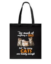 Cat Barely Enough Tote Bag tile