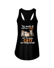 Cat Barely Enough Ladies Flowy Tank tile
