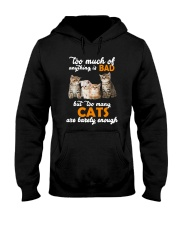 Cat Barely Enough Hooded Sweatshirt tile