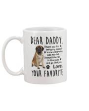 Daddy English Mastiff Mug back