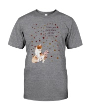 Cat I Love You More Classic T-Shirt front