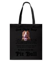 Pitbull God Said Tote Bag thumbnail
