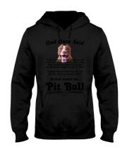 Pitbull God Said Hooded Sweatshirt thumbnail