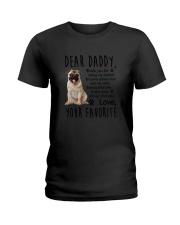 Daddy Pug Ladies T-Shirt thumbnail
