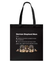 Mom German Shepherd Tote Bag thumbnail