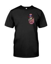 Cat America Flag Classic T-Shirt front