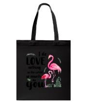 Flamingo I Love You Tote Bag thumbnail