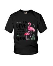 Flamingo I Love You Youth T-Shirt thumbnail