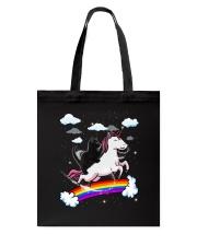 Black Cat Riding Unicorn  Tote Bag thumbnail