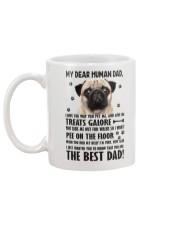 Human Dad Pug Mug back