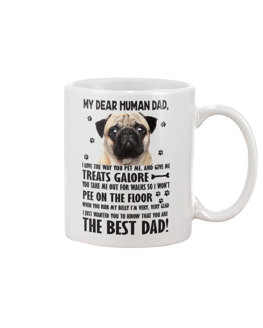 Human Dad Pug Mug