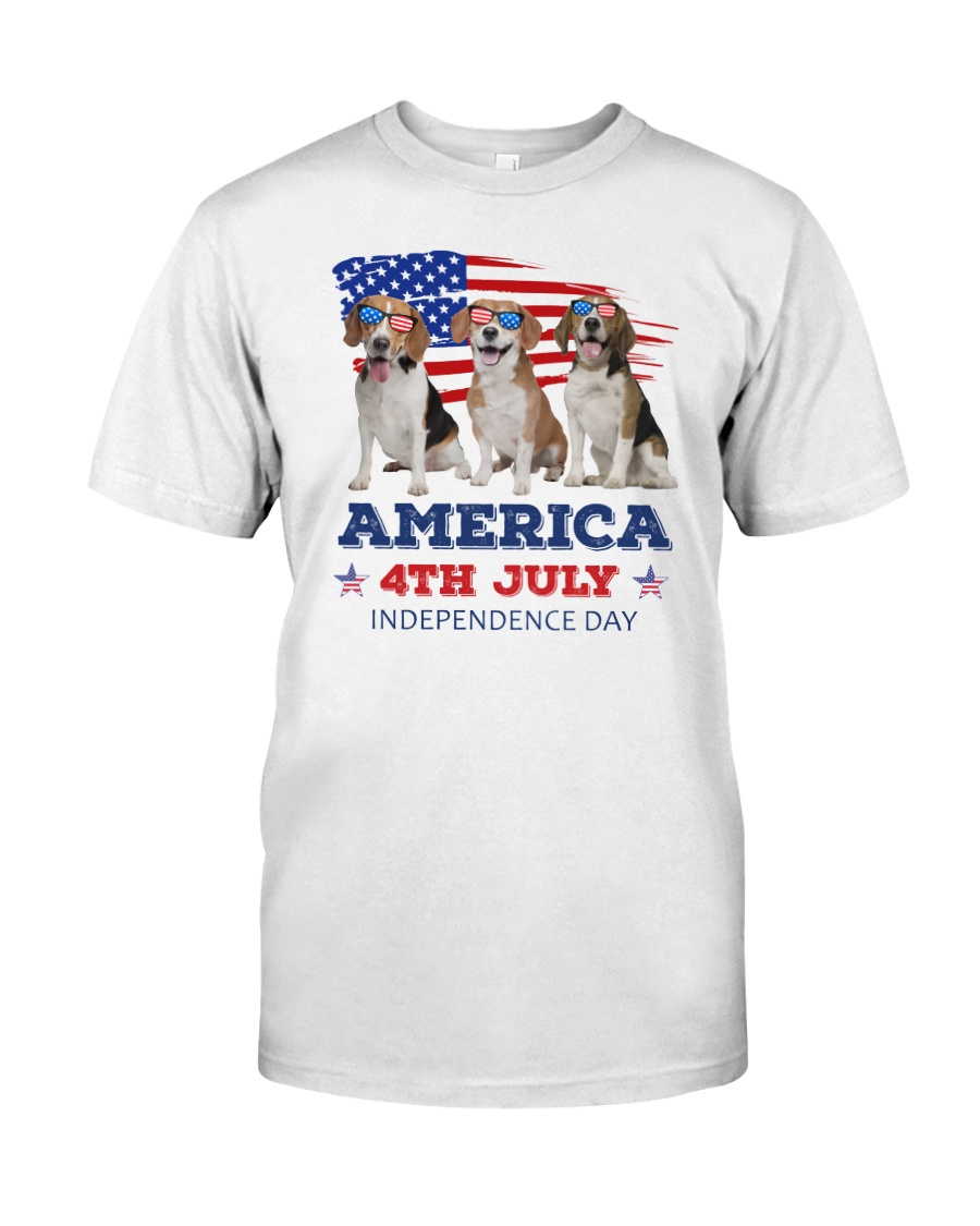 4th July Beagle Classic T-Shirt