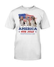 4th July Beagle Classic T-Shirt front