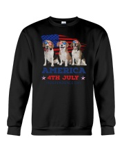 4th July Beagle Crewneck Sweatshirt thumbnail