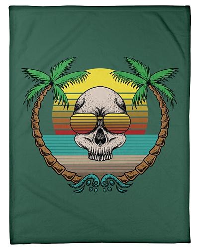 Retro Sunset Summer Skull