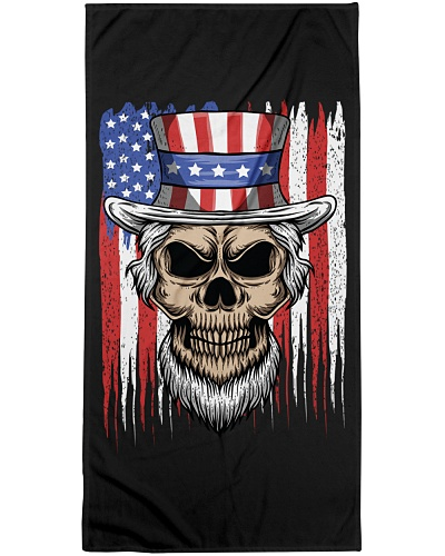 American Flag Hat Skull