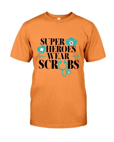 super heroes wear scrubs gift for nurse