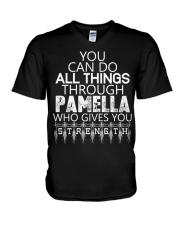 Pamella Gives You Strength New V-Neck T-Shirt thumbnail