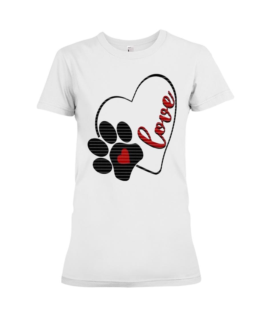 valentine Day Dog Moms shirts Premium Fit Ladies Tee