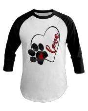 valentine Day Dog Moms shirts Baseball Tee thumbnail