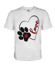 valentine Day Dog Moms shirts V-Neck T-Shirt thumbnail