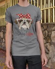 LIMITED EDITION - BULDOG MOM 15 OFF Classic T-Shirt apparel-classic-tshirt-lifestyle-21