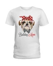 LIMITED EDITION - BULDOG MOM 15 OFF Ladies T-Shirt thumbnail