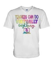 TEACHER CAN DO V-Neck T-Shirt thumbnail