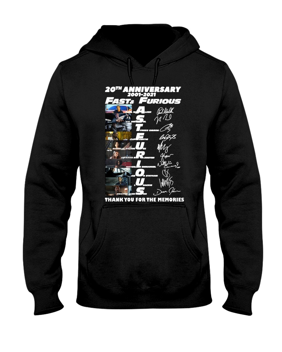 20th Annversary 2001-2021 Fast Furious Hooded Sweatshirt