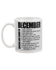 QUEENS ARE BORN IN DECEMBER Mug back